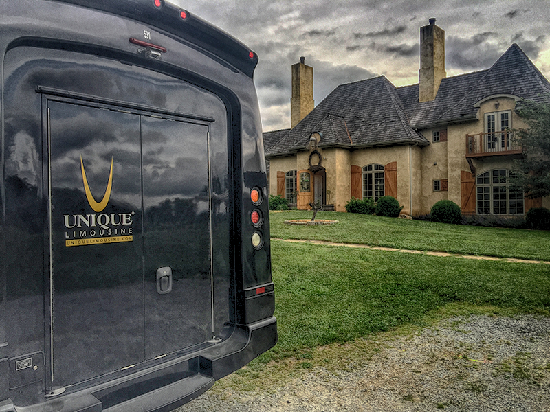 Unique Limousine van at a Vineyard